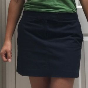 Navy blue stretch chino skirt with pockets!